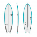 Surfboard TORQ Epoxy TEC Quad Twin Fish 5.6 Rail