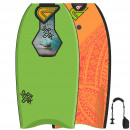 FLOOD Bodyboard Streak 41 Lime Orange Maori
