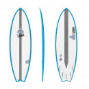 Surfboard CHANNEL ISLANDS X-lite Pod Mod 6.6 Blau Al Merrick