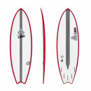 Surfboard CHANNEL ISLANDS X-lite Pod Mod 6.6 Rot